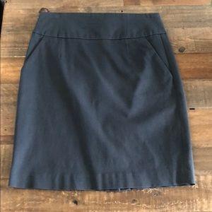 Slate high waisted pencil skirt